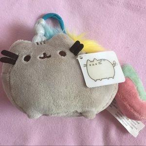 PUSHEEN rainbow pastel unicorn keychain